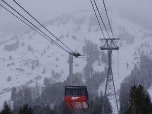The aerial tram at Jackson Hole, WY