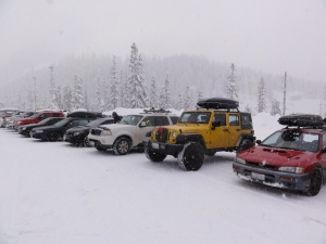 The few, the proud, the midweek powder hounds
